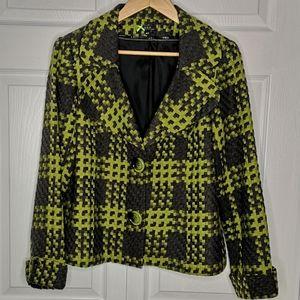 MELANIE LYNE Vex Collection Plaid Blazer Size 10